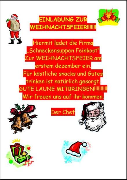 lustige einladung weihnachtsfeier kollegen | brillebrille, Einladung