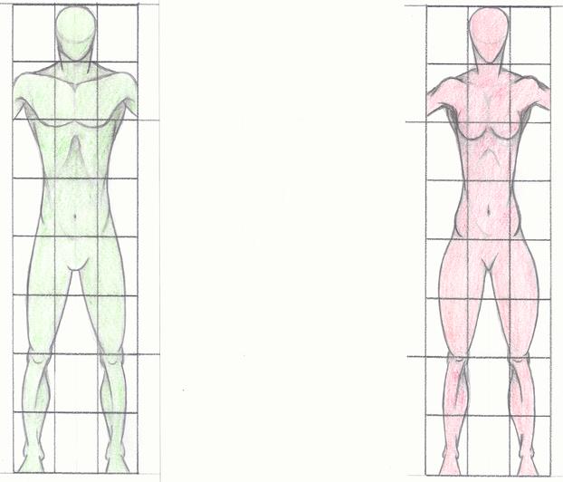 zeichnen lernen k rperproportionen und figuren darstellen. Black Bedroom Furniture Sets. Home Design Ideas