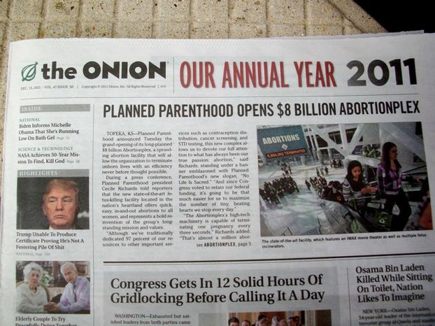 Satirischer Leitartikel in The Onion