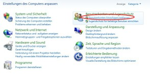 Benutzerkonten in Windows 7