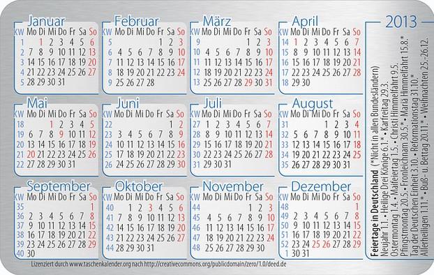 ostern 2013 kalender