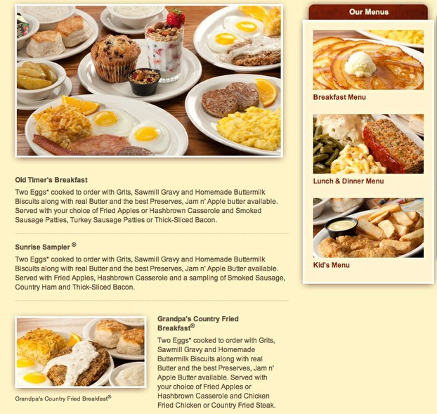 Cracker Barrel American Breakfast