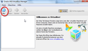 Neue Maschine in VirtualBox anlegen