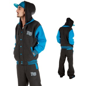 Raw Blue 2 Tone Sweat Suit Dark ...