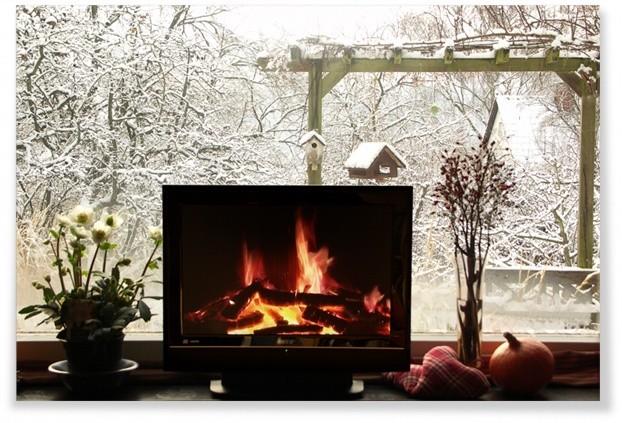 heimelig knisternd das kaminfeuer auf knopfdruck. Black Bedroom Furniture Sets. Home Design Ideas