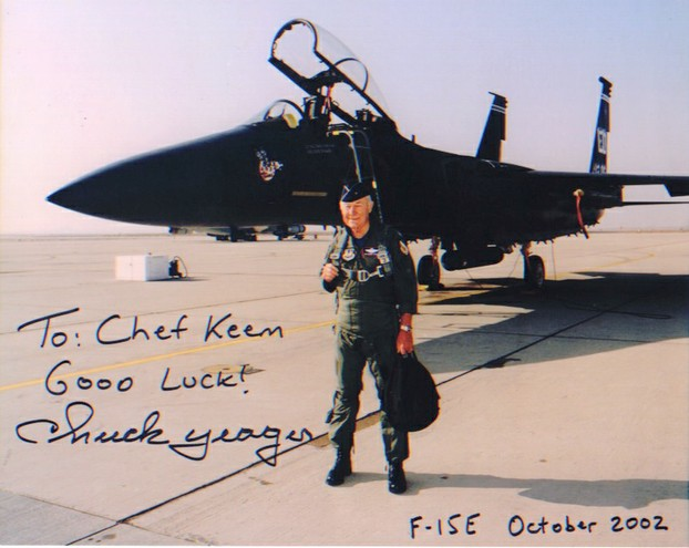 Chuck Yeager Autogramm
