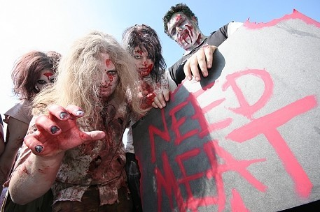 Zombie-Walk in Düsseldorf