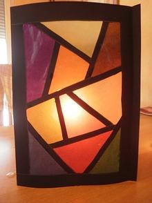 Laternen oder licht dekoration f r halloween oder advent - Fensterbilder transparentpapier ...