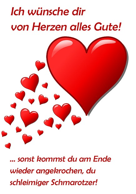 Anti Valentinstags Karte, Motiv .