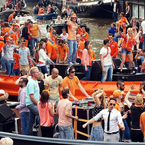 King's day - Canals Amsterdam