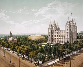 Tempel der Mormonen in Salt Lake ...