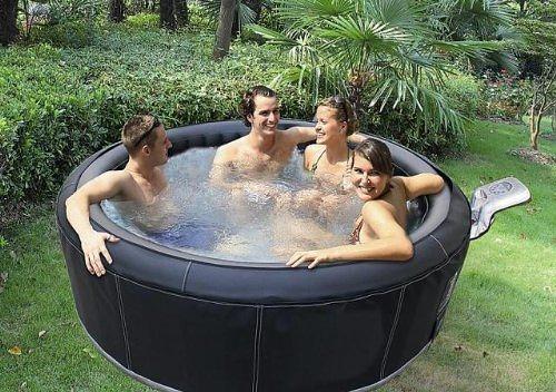 aufblasbarer whirlpool test badevergn gen f r kleine g rten und r ume. Black Bedroom Furniture Sets. Home Design Ideas