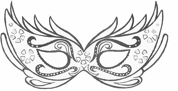 Fasching Maske Selber Machen Vorlage Wohn Design
