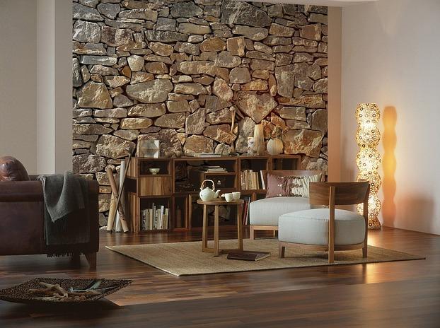 Vliestapete steinoptik küche  Steintapete in 3-D: So wirkt das Mauerdesign täuschend echt