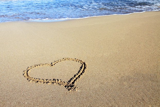 beach moments heart love - photo #19