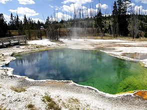 Yellowstone-Nationalpark in Amerika
