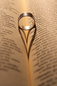Wedding Rings On Bible Picture