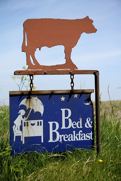 Bed and Breakfast auf dem Land