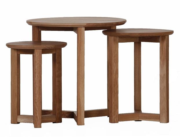 dekorativer design beistelltisch holz tisch rund 60 cm. Black Bedroom Furniture Sets. Home Design Ideas