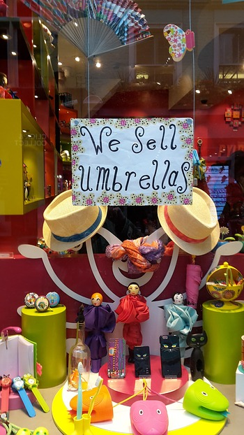 """We sell umbrellas"" passt so ..."