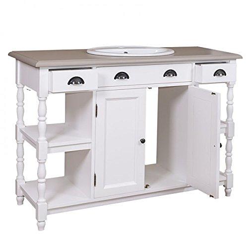 landhausstil waschtisch nostalgische bad m bel mit modernen funktionen. Black Bedroom Furniture Sets. Home Design Ideas
