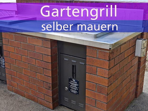 Gartengrill Grillkamin Grill Selber Mauern Mit Ziegel Oder