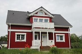Schwedenhaus blau  Ein Schwedenhaus bauen und den Urlaub ins eigene Haus holen