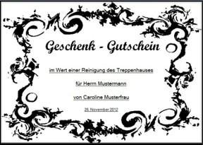 Gutschein-Vorlagen