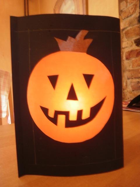 Laternen oder licht dekoration f r halloween oder advent basteln - Dekoration fur halloween ...