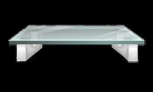 Wohnzimmer deko tipps der couchtisch - Table en verre transparent ...