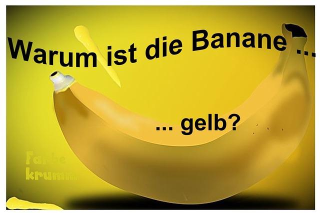 warum ist die banane gelb. Black Bedroom Furniture Sets. Home Design Ideas